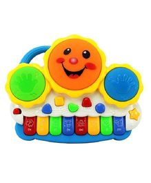 Toyszone Drum Keyboard Musical Toy - Multi Color