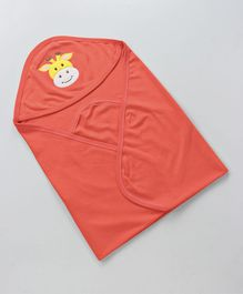 Simply Hooded Cotton Wrapper Cow  Face Patch - Orange
