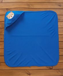 Simply Hooded Cotton Wrapper Bear Patch - Royal Blue