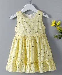 Huali Kids Small Flower Design Dress - Yellow