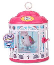 Little Live Pets S7 Bird With Cage Secret Angie - White