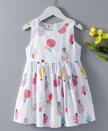 Huali Kids Trees Print Dress - Pink