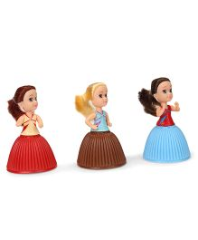 Cupcake Surprise Mini Dolls Pack Of 3 - Red Brown Blue