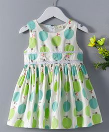 Huali Kids Tree Print Dress - White