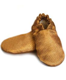 Skips Solid Booties - Golden