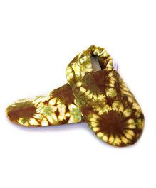 Skips Abstract Design Booties - Brown