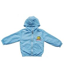 Pre Order - Awabox Cartoon Print Hoodie Jacket - Light Blue