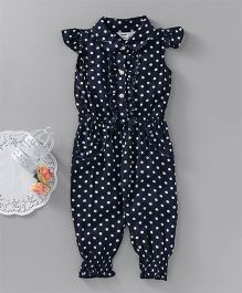 Happiness Polka Dot Print Jumpsuit - Black