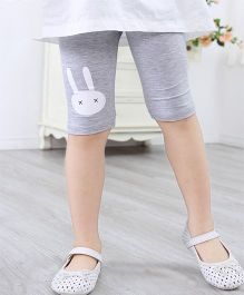 Pre Order - Awabox Rabbit Face Print Leggings - Grey