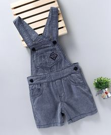 Sea & Sky Baby Solid Print Dungaree - Blue