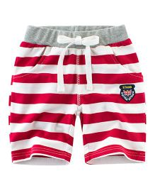 Pre Order - Awabox Striped Shorts - Red