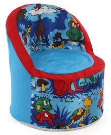 Luvely Sofa Chair Allover Animal Print - Blue	Red