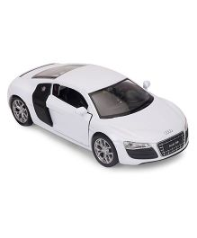 Welly Die Cast Pull Back Action Audi R8 V10 Toy Car - White