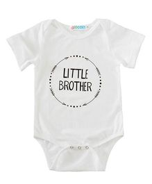Pre Order - Awabox Little Brother Printed Onesie - White