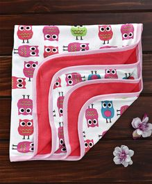 Ohms Towel Owl Print - Peach
