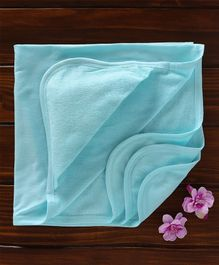 Ohms Hooded Terry Towel - Aqua Blue