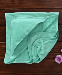 Ohms Hooded Terry Towel - Aqua Green