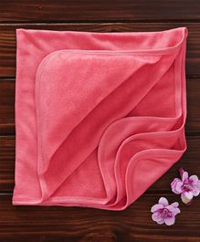 Ohms Hooded Terry Towel - Pink