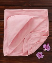 Ohms Hooded Terry Towel - Light Pink