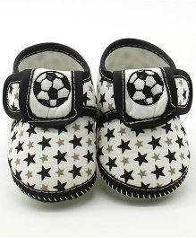 Dazzling Dolls Star Print Booties - Black
