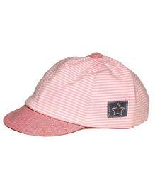 Little Hip Boutique Striped Baseball Toddler Cap - Pink