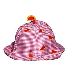 Little Hip Boutique Check Bucket Cap - Pink