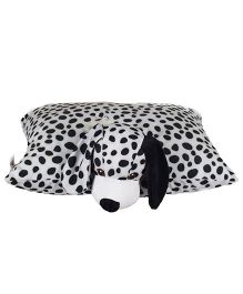 Ultra Folding Dalmatian Dog Cushion - White Black