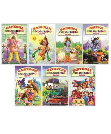 Copy To Colour Colouring Book Pack of 7 - English