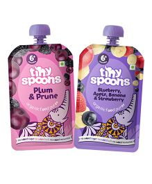 Tiny Spoons Organic Fruit Puree Pack of 2 - 120 gm each