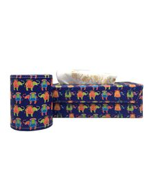 The Crazy Me Elephant Pen Stand & Tissue Box Set - Navy