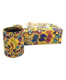 The Crazy Me Quirk Up Pen Stand & Tissue Box Set - Yellow