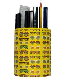 The Crazy Me Eco Friendly Pen Stand Sunglasses Print - Yellow