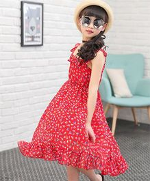 Pre Order - Awabox All Over Floral Dress - Red