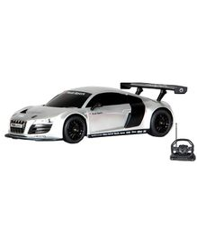 Toyhouse Radio Remote Control Audi R8 With Steering Wheel Controller - Silver