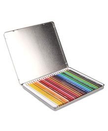 Doms Colour Pencil Flat Tin - Pack Of 24 Shades