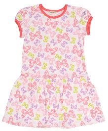 Crayonflakes Small Butterflies Printed Dress - Pink