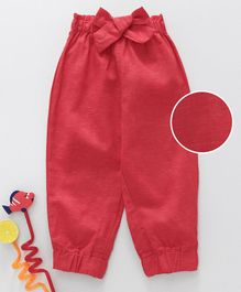 GJ Baby Full Length Trouser With Sash Tie - Red