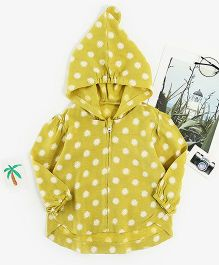 Pre Order - Awabox Polka Dot Full Sleeves Jacket - Yellow