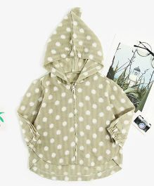 Pre Order - Awabox Polka Dot Full Sleeves Jacket - Green