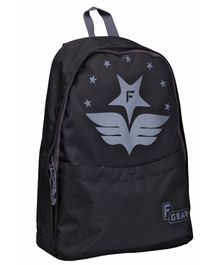 F Gear Saviour Aviator Print Casual Backpack Black - 16.5 inches