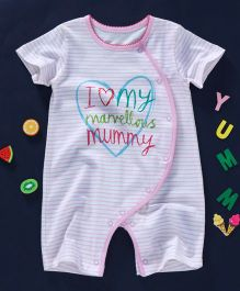 First Movements I Love My Marvellous Mummy Printed Romper - Pink