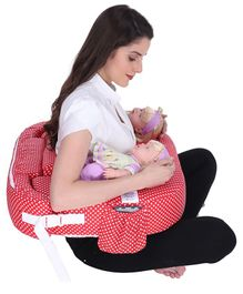 MomToBe Polka Dot Twin Nursing Pillow - Red