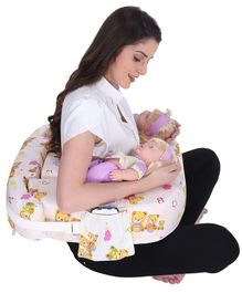 MomToBe Twin Nursing Pillow Bear Print - Off White