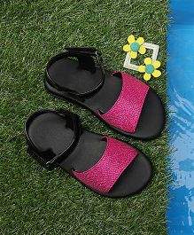 D'Chica Shimmery Chic Sandals - Fuschia