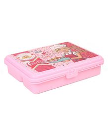 Barbie Super Sweet Lunch Box With Fork Spoon - Pink