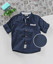 Zy Baby Solid Shirt - Navy Blue