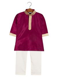 BownBee Ethnic Kurta Pajama Set - Purple