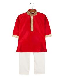 BownBee Ethnic Kurta Pajama Set - Red