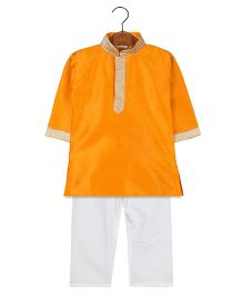 BownBee Ethnic Kurta Pajama Set - Orange