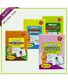 Krazy Flash Cards Combo Mini Set of 4 - 133338